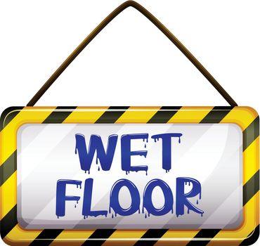 Wet floor signboard