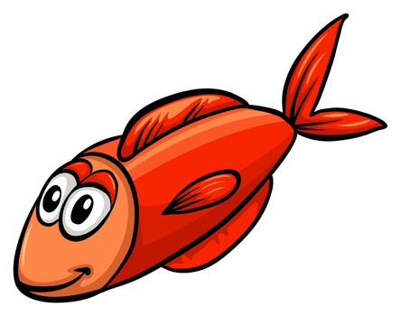 One red fish
