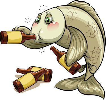 A drunk fish