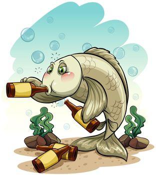 Drunk fish under the sea