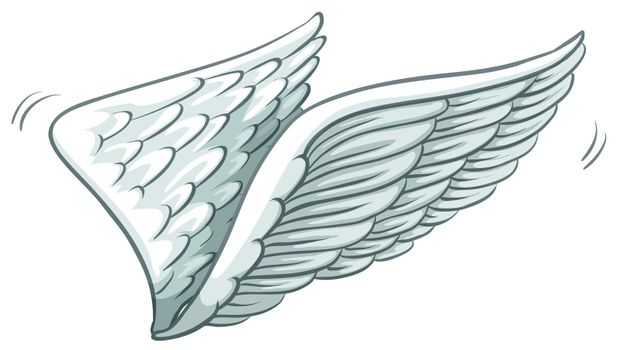 A plain drawing of wings