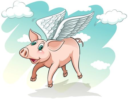 A flying pig