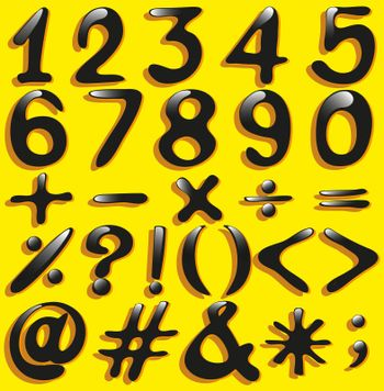 Numerical figures and mathematical operations