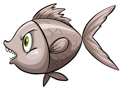 A fish in deep water