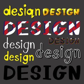 Set of design artworks