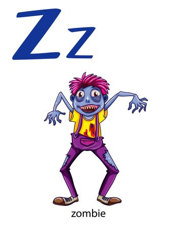 Letter Z for zombie