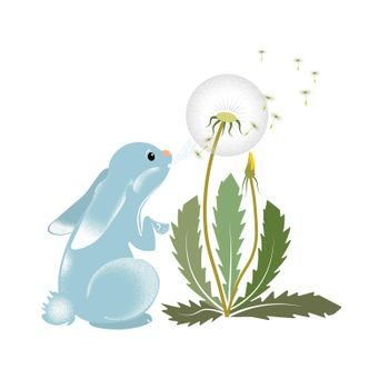 hare and dandelion