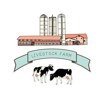 Spotted cows, Livestock farm