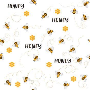 seamless pattern of a Honey