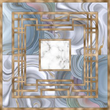 abstract art deco marble agate fluid geometric background
