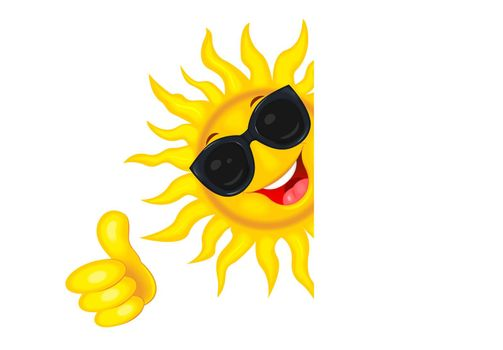 Sun with glasses and everything is fine