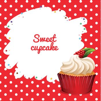 Cupcake with rasberry topping