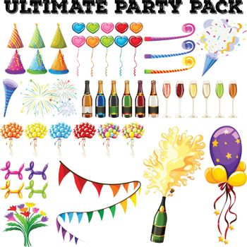 Ultimate party pack with many ornaments