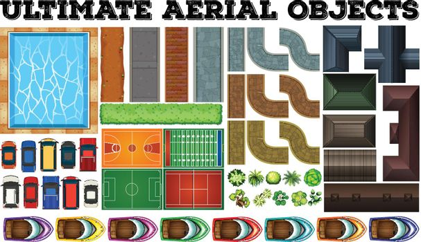 Ultimate aerial objects in set