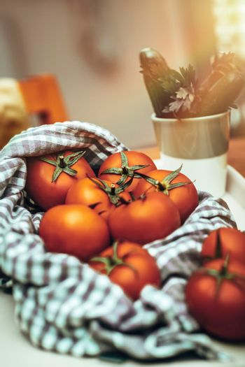 Fresh Tomatoes in the Kitchen