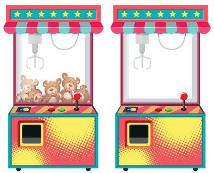 Arcade game machines with dolls