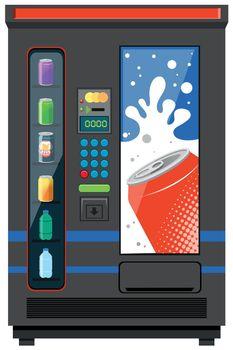 Vending machine for soft drinks