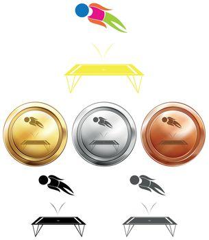 Medal designs for trampoline