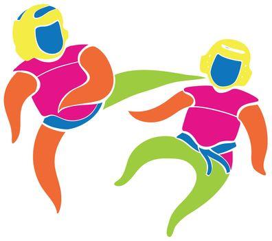 Sport icon design for judo