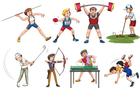 People doing many sports