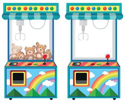 Arcade game machine with dolls