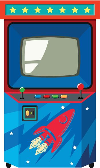 Arcade game machine with space theme