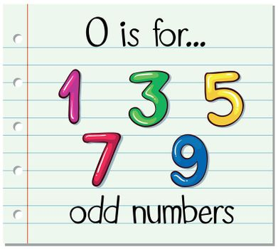 Alphabet  O is for odd numbers