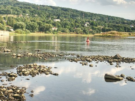 The biggest Czech river Elbe out of water. Level 0.8m is three or four times less than average.