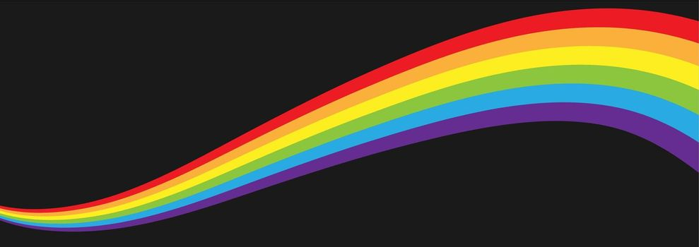 A growing wave in LGBT flag colors for poster, banner and creative design. Simple Style