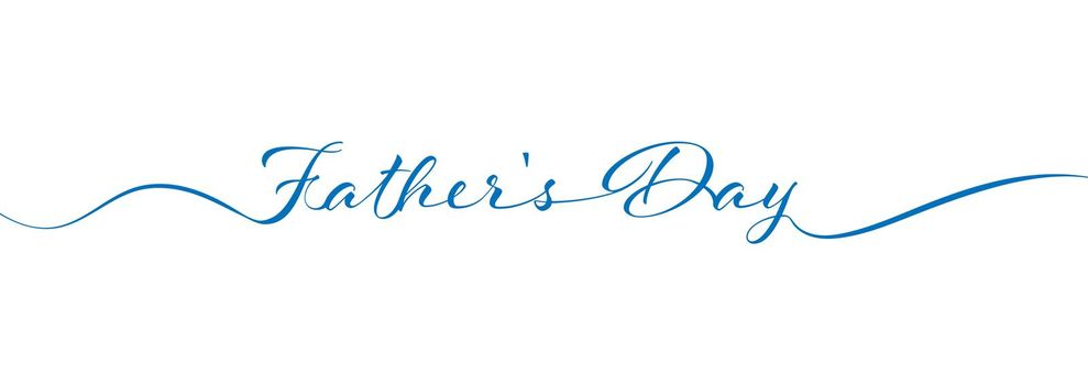 Father's Day calligraphy lettering on white background for postcards, posters, invitations and creative design. Simple Style