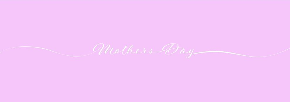 Mother's Day calligraphy lettering on pink background for postcards, posters, invitations and creative design. Simple Style