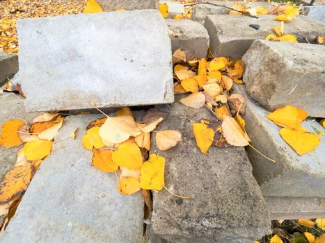 Natural stones and concrete blocks for making pavemen