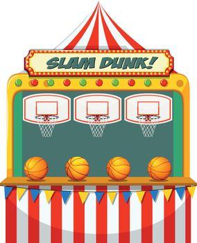 Slam dunk carnival stall