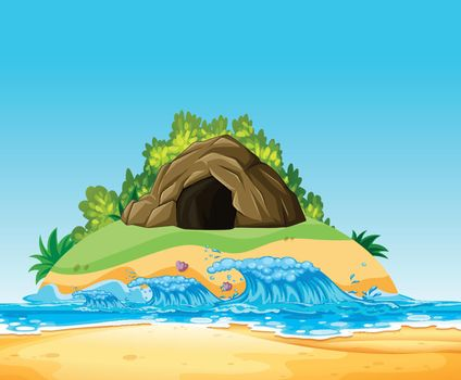 A Mystery Cave on Island