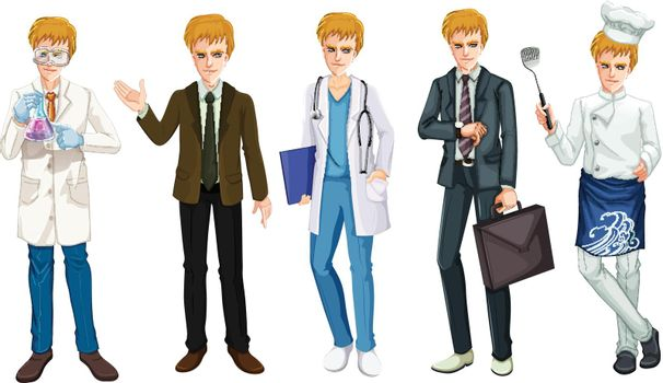 A Set of Male Occupation Uniform