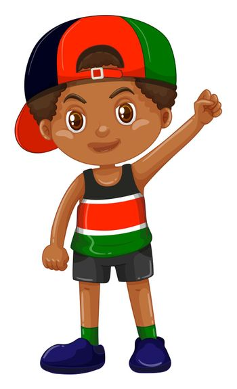 Boy wearing cap backward