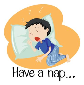 Wordcard for have a nap