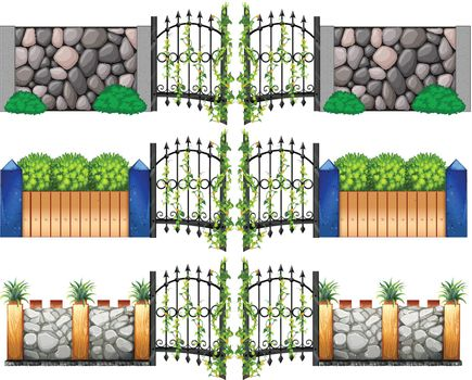 Different design for gates and walls