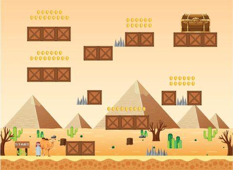 A Game Template Desert Scene illustration