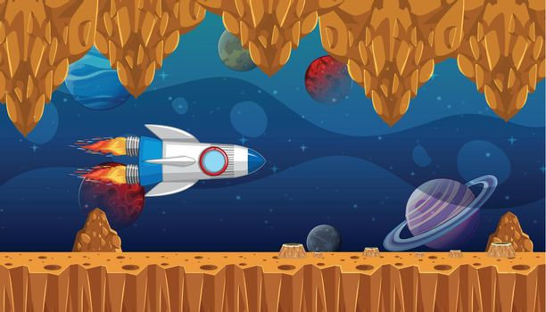 A space game template illustration