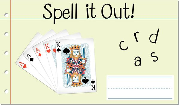 Spell it out cards illustration