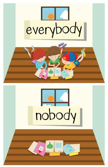 Opposite word for everybody and nobody