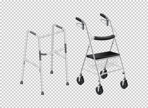 Walker with wheels for elders illustration