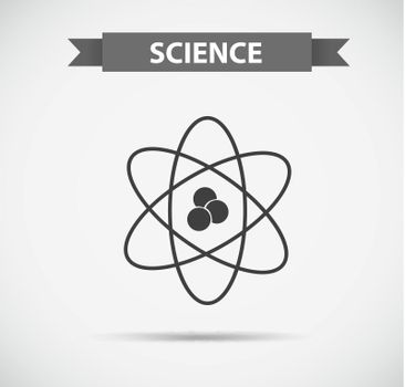 Science symbol in grayscale