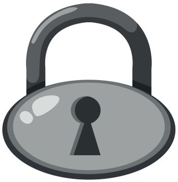 A master lock on white background