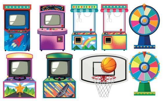 Set of arcade games