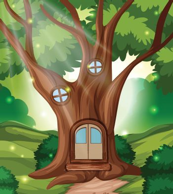 A fairy tale forest house