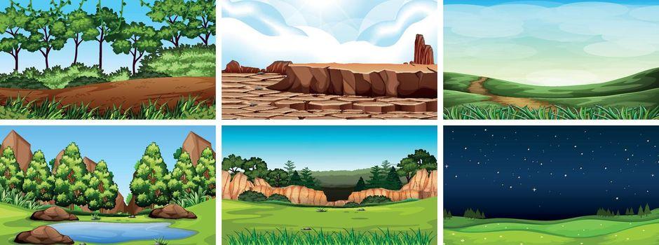 Natural environment lanscape scene