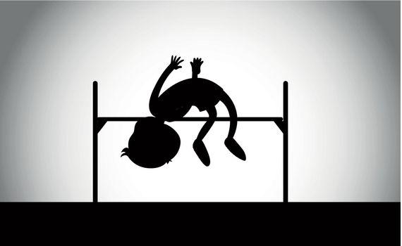 A high jump athletics