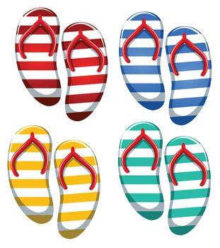 Set of stripe sandal